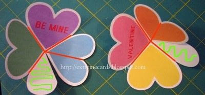 How to make a greetings card. Conversation Heart Circle Card - Step 2