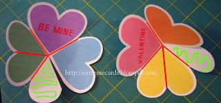 How to make a greetings card. Conversation Heart Circle Card - Step 3