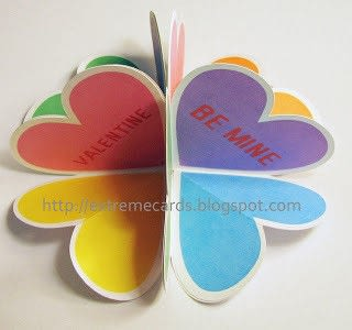 How to make a greetings card. Conversation Heart Circle Card - Step 8