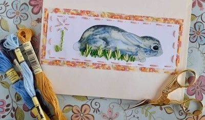 How to make a stitched card. Practice The Running Stitch Using A Free Printable And Make An Adorable Spring/Easter Card - Step 10