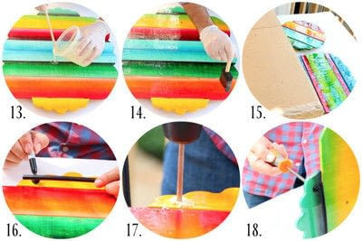 How to make a tray. Fiesta Table Decor - Step 3