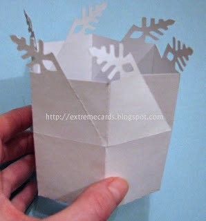 How to fold an origami box. Twist Top Snowflake Box - Step 2