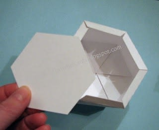 How to fold an origami box. Twist Top Snowflake Box - Step 4