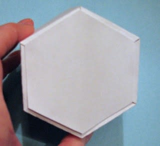 How to fold an origami box. Twist Top Snowflake Box - Step 5