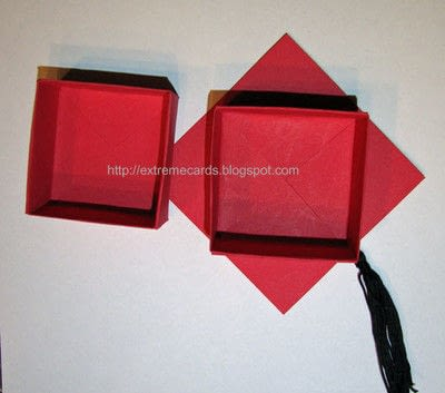How to make a paper box. Graduation Cap Money Gift Box - Step 2