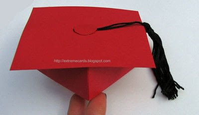 How to make a paper box. Graduation Cap Money Gift Box - Step 3