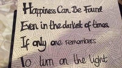 How to make a collages. Harry Potter Film Quote Canvas - Step 4