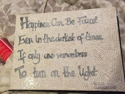 How to make a collages. Harry Potter Film Quote Canvas - Step 5