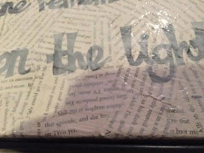 How to make a collages. Harry Potter Film Quote Canvas - Step 6
