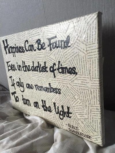 How to make a collages. Harry Potter Film Quote Canvas - Step 8