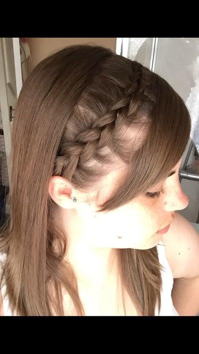 How to style a Dutch braid. Dutch Headband With Fringe - Step 3