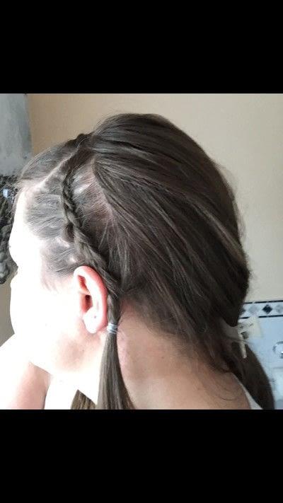 How to style a Dutch braid. Dutch Headband With Fringe - Step 4