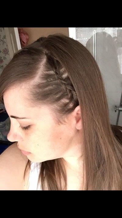 How to style a Dutch braid. Dutch Headband With Fringe - Step 5