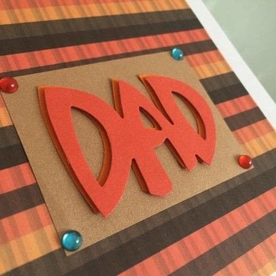 How to cut a piece of papercutting. Fathers Day Card   3 D - Step 2