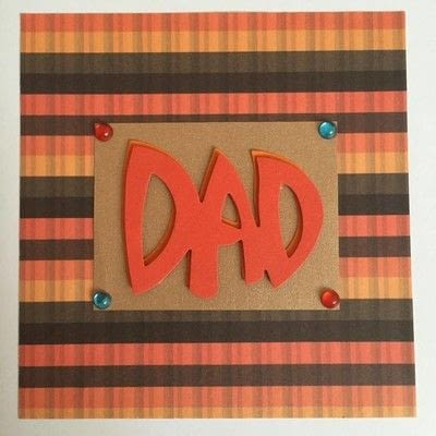 How to cut a piece of papercutting. Fathers Day Card   3 D - Step 3