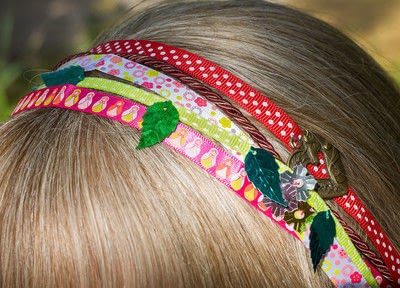 How to style an updo hairstyle. Multiple Headbands - Step 2