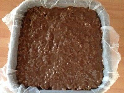 How to bake a bar / slice. Rice Krispie Snap Bars  - Step 4