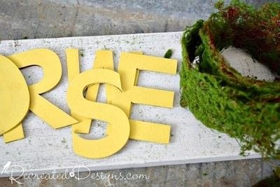 How to make a plaque / sign. Mossy Spring Flower Sign - Step 2