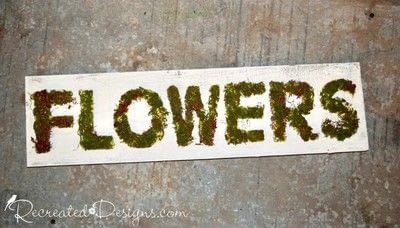 How to make a plaque / sign. Mossy Spring Flower Sign - Step 5