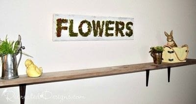 How to make a plaque / sign. Mossy Spring Flower Sign - Step 6