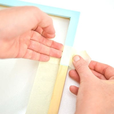How to paint a painted photo frame. Wooden Frame Makeover - Step 1