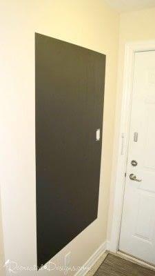 How to make a chalkboard. Making A Wall Chalkboard - Step 2