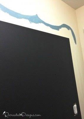 How to make a chalkboard. Making A Wall Chalkboard - Step 3
