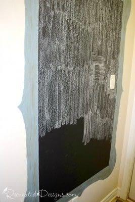 How to make a chalkboard. Making A Wall Chalkboard - Step 5