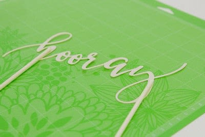 How to make decorative tablewear. Easy Party Projects: Cake Topper And Serving Tray - Step 3