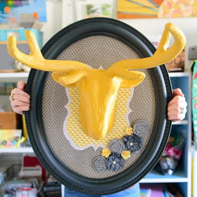 How to make a taxidermy mount. Upcycled Yard Sale Frame - Step 7