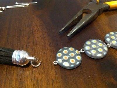 How to make a tassel earring. Tassels Earrings - Step 4