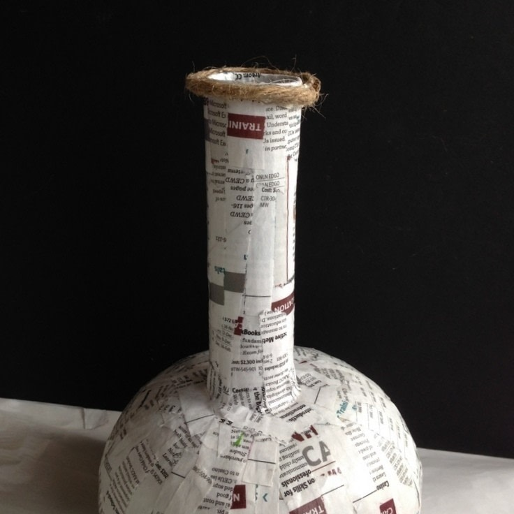 How To Apply Primer >> Decoupage Napkins On Paper Mache Vases · How To Make A Decoration · Home + DIY on Cut Out + Keep