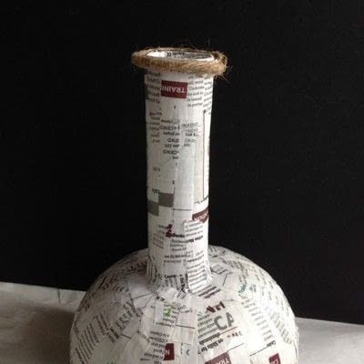 How to make a decoration. Decoupage Napkins On Paper Mache Vases - Step 4