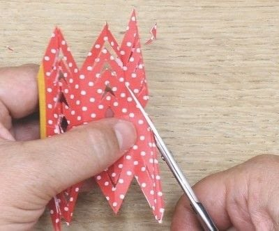 How to fold an origami shape. Ribe Paper Star - Step 18