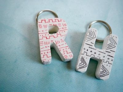 How to make a charm / keyring. Diy Mud Cloth Inspired Plaster Keychains - Step 3