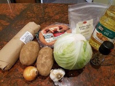 How to cook a skillet. Kielbasa Potato Skillet - Step 1
