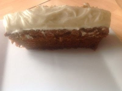 How to bake a carrot cake. Carrot Loaf with cream cheese icing  - Step 8