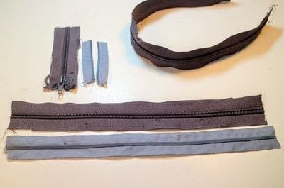 How to make a bow tie. Zipper Bow Tie - Step 1