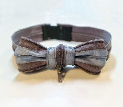 How to make a bow tie. Zipper Bow Tie - Step 10