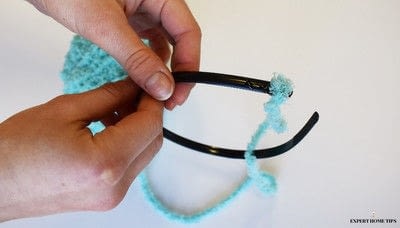 How to make an animal hat. Diy Easter Bunny Headband - Step 1