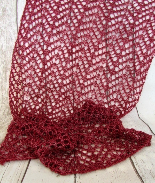 Simple Lace Knit Scarf How To Make A Shawl Yarncraft On Cut Out