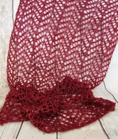 How to make a shawl. Simple Lace Knit Scarf - Step 3
