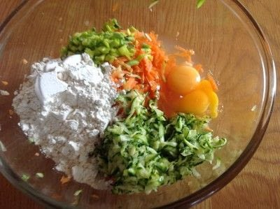 How to fry vegetables. Vegetable Fritters - Step 2