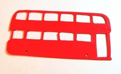 How to make a shrink plastic pendant. Red Bus Necklace - Step 7