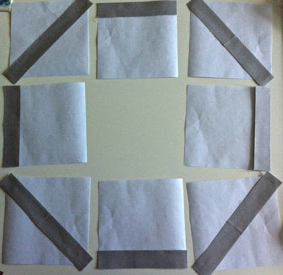 How to make a patchwork quilt. Octastring - Step 1