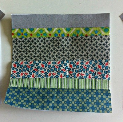 How to make a patchwork quilt. Octastring - Step 2