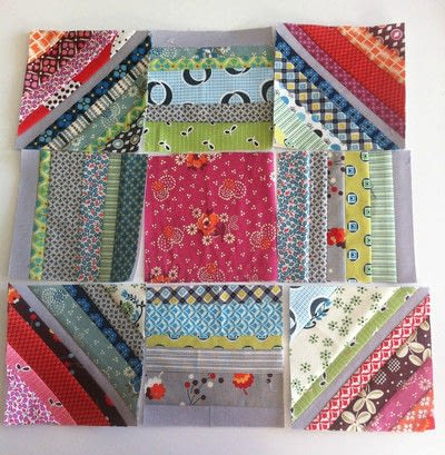 How to make a patchwork quilt. Octastring - Step 5