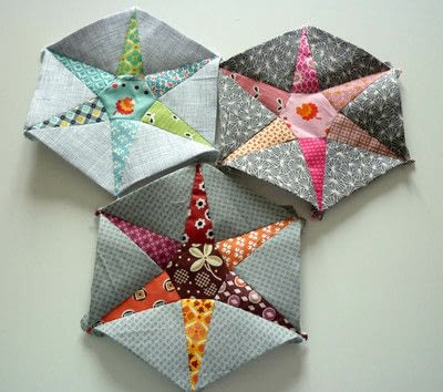 How to sew a patchwork cushion. Hexiestars - Step 3