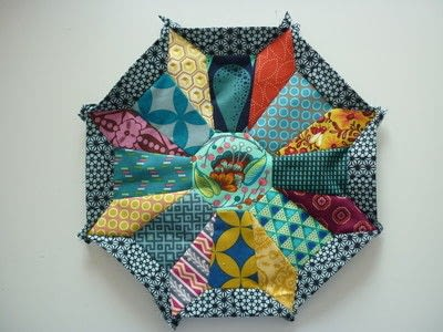 How to sew a patchwork cushion. Cartwheels Epp Block - Step 1