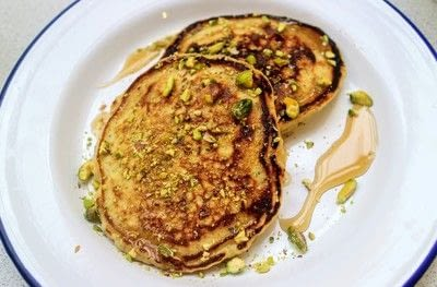 How to cook a pancake. Rose & Pistachio Pancakes - Step 5